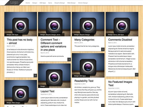 Pinbin wallpapers WordPress theme