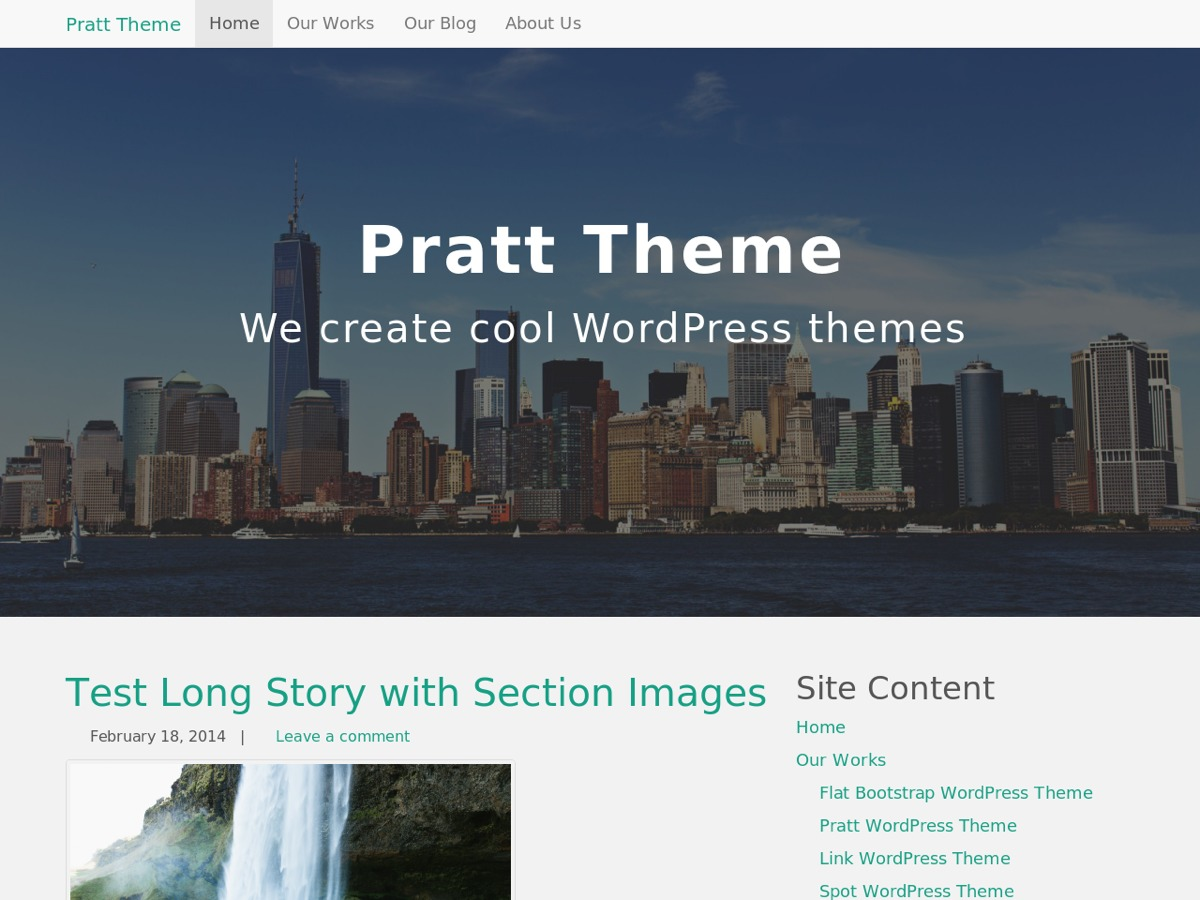 Pratt wallpapers WordPress theme