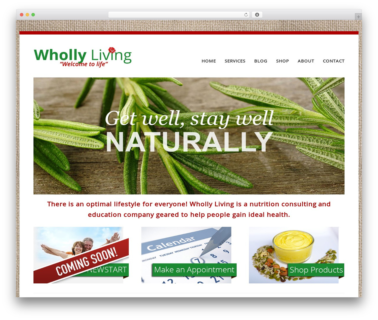 PrimaShop (WC) WordPress store theme - whollyliving.ca