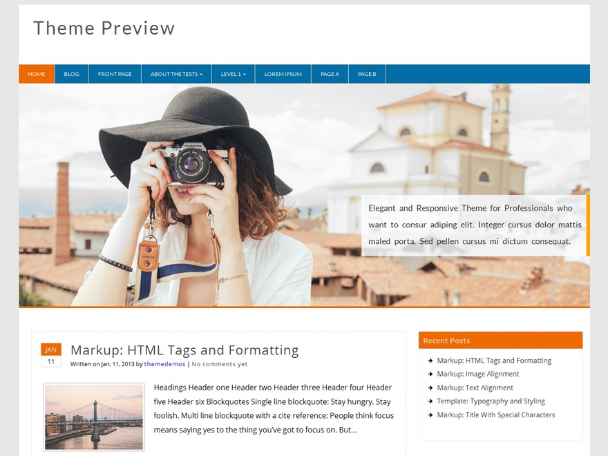 Profound WordPress magazine theme