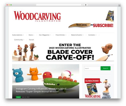 Prologue WordPress template - woodcarvingillustrated.com