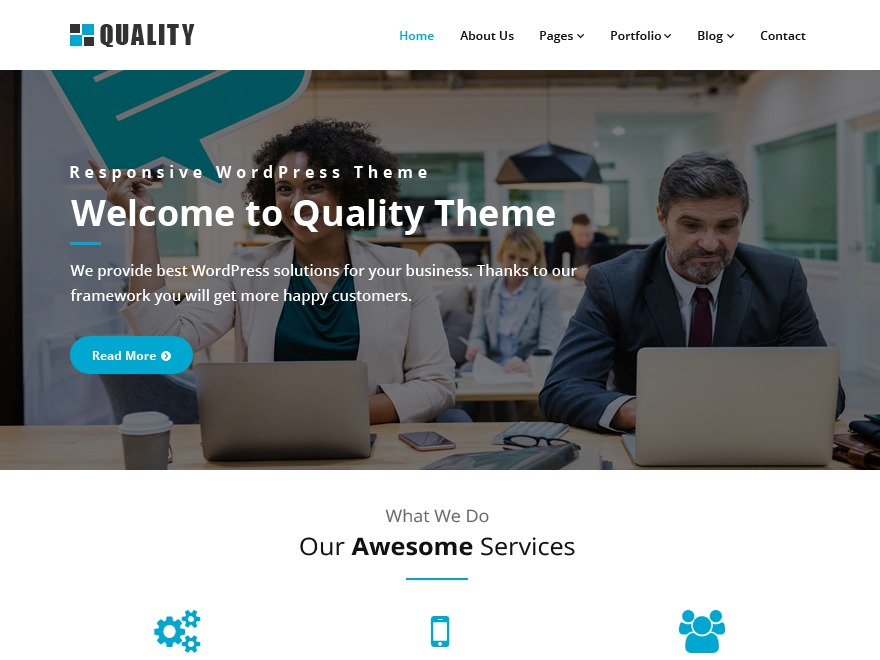 Quality business WordPress theme