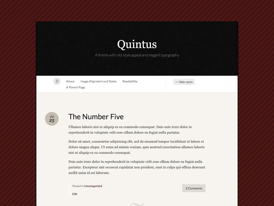 Quintus WordPress gallery theme