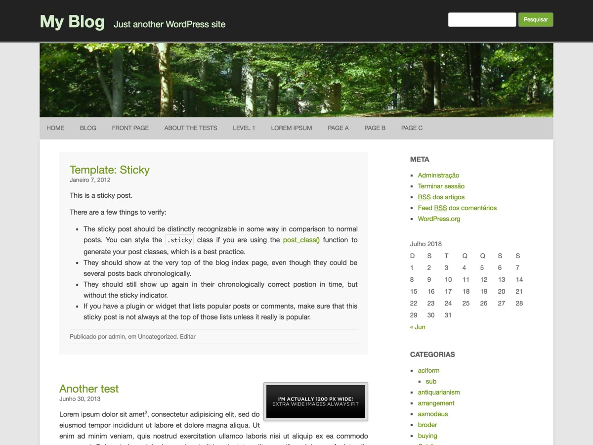 RCG Forest WordPress template free download