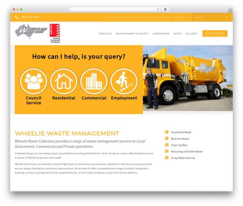Recycle WordPress theme - wheeliewaste.com.au