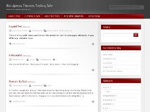 Red Modern best WordPress theme