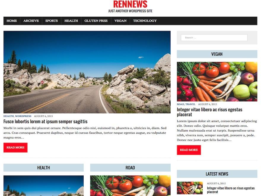 RenNews Child WordPress news theme