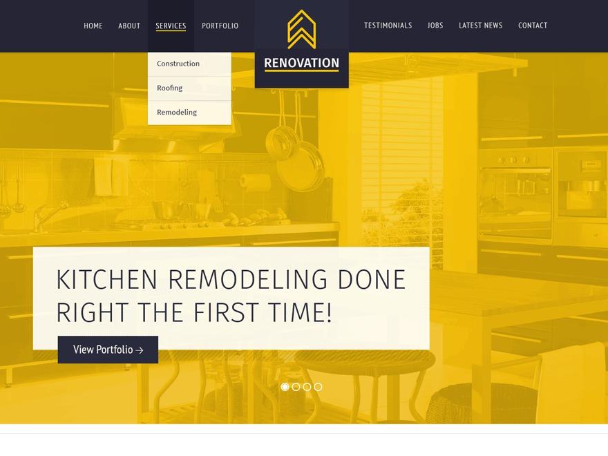 Renovation Progression WordPress theme