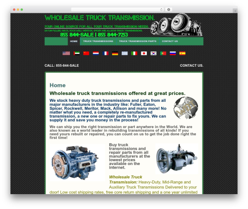 Responsive template WordPress free - wholesaletrucktransmission.com