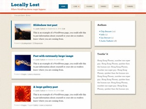 Retro-fitted WordPress blog template