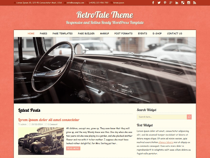 RetroTale Premium WordPress news theme