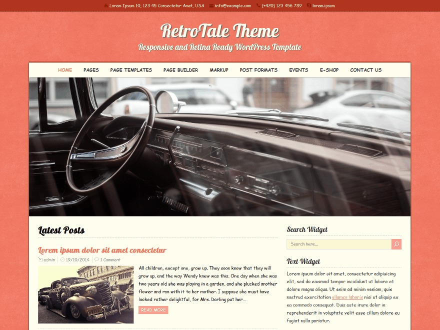 RetroTale WordPress theme download