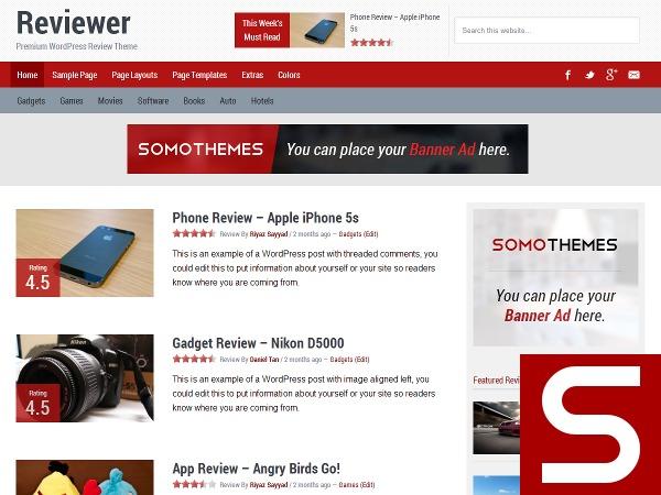 Reviewer Theme WordPress blog theme