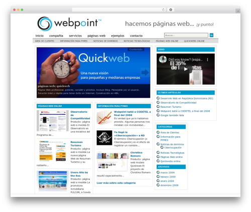 Revolution Lifestyle WordPress theme design - webpoint.com.do