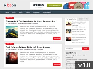 Ribbon WordPress blog theme