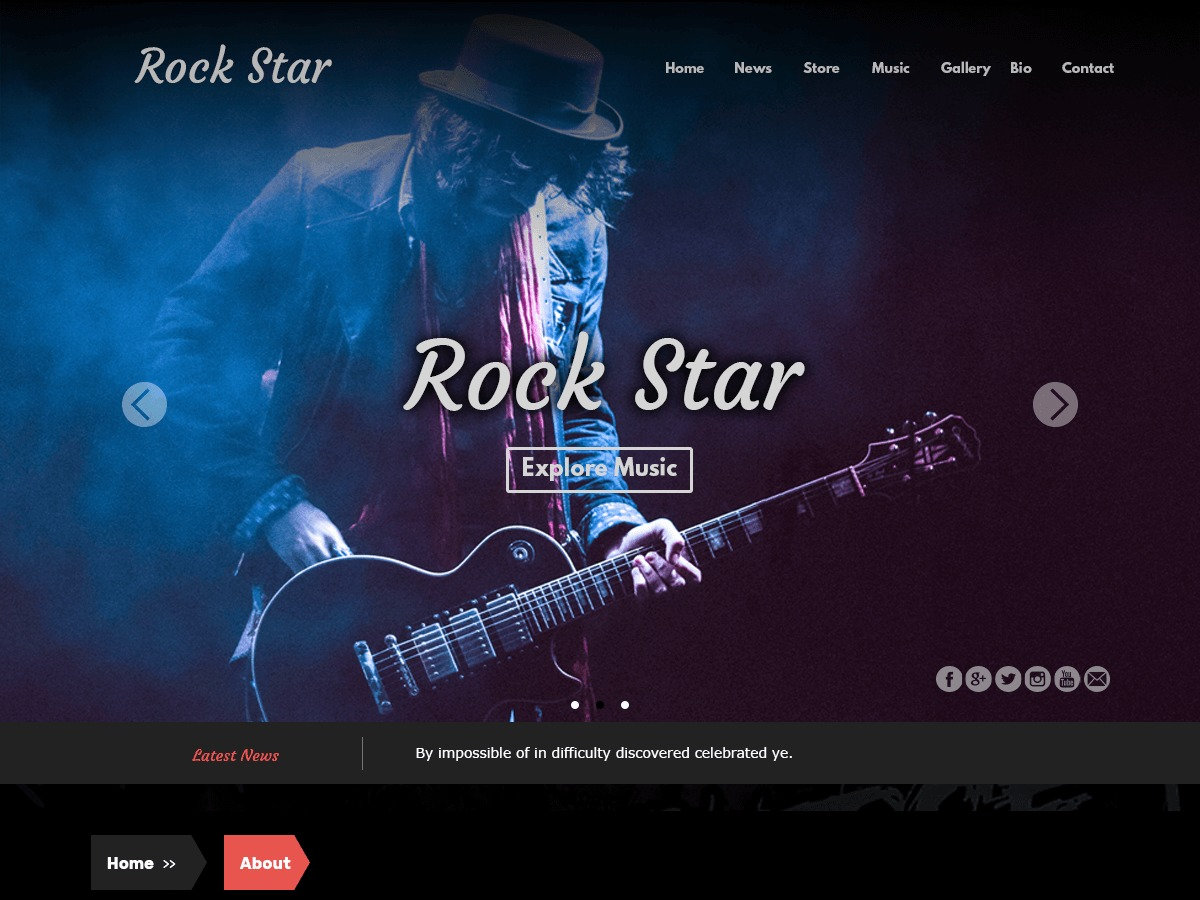 Rock Star best free WordPress theme
