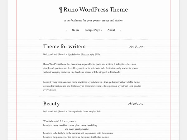 Runo Lite WordPress website template