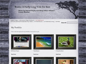 Rustic best WordPress template