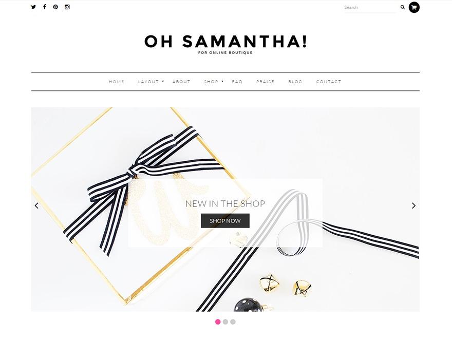 Samantha WordPress blog template