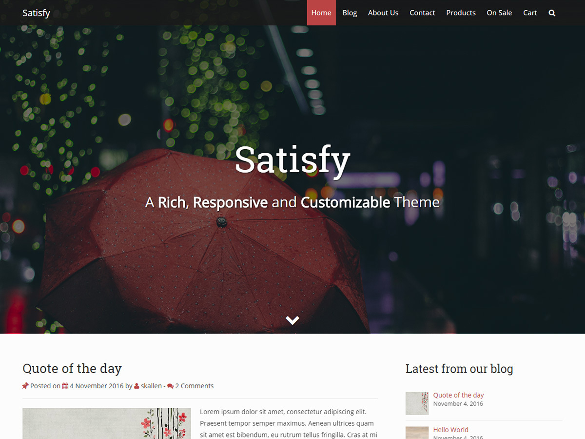Satisfy WordPress template free download