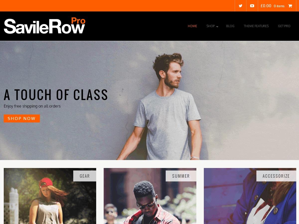 Savile Row Pro WordPress shopping theme