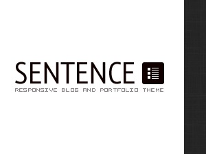 Sentence WordPress portfolio template