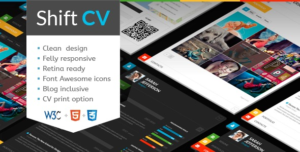 Shift CV WordPress blog template