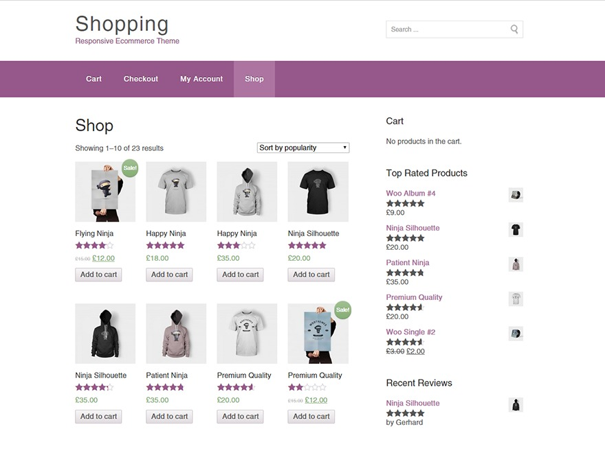 Shopping best free WordPress theme