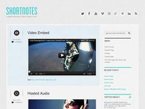 Shortnotes WordPress blog template