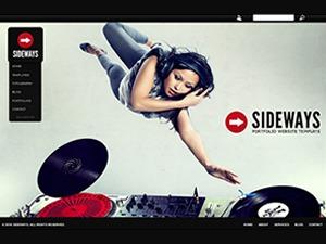 Sideways WordPress portfolio theme