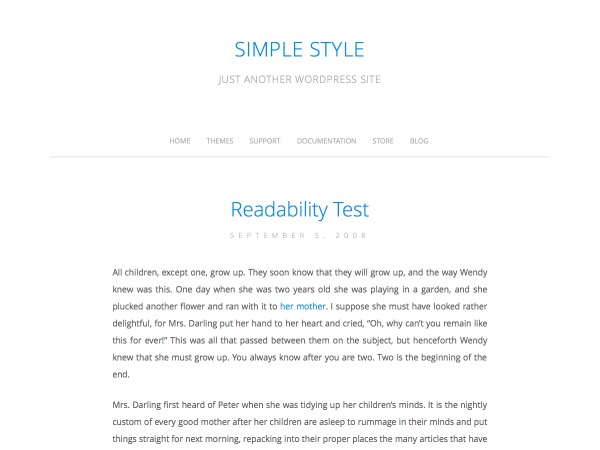 Simple Style WordPress blog template