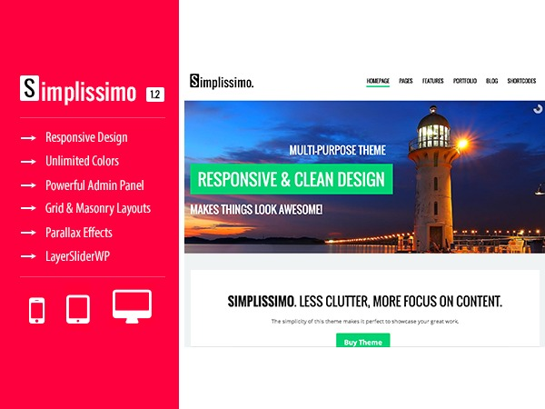 Simplissimo WordPress template