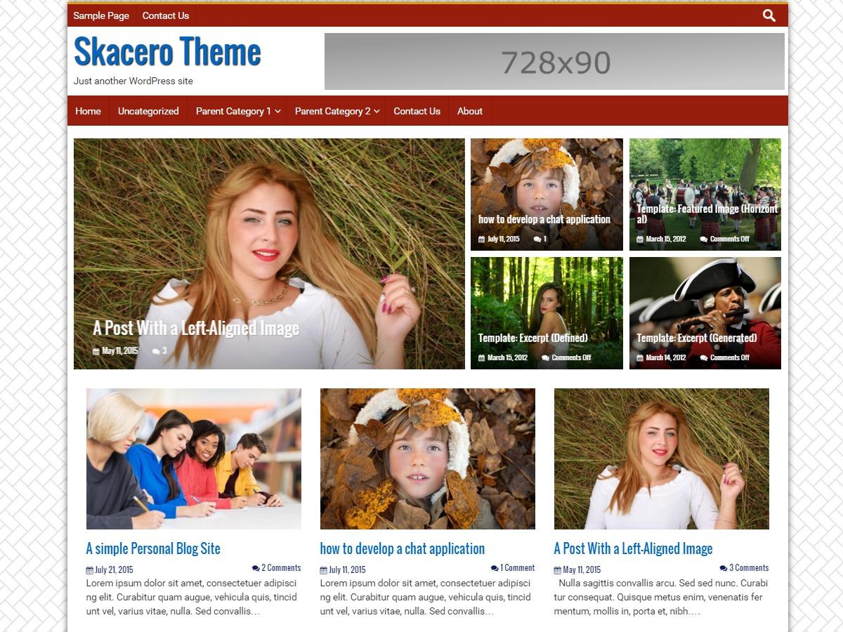 Skacero Lite free WordPress theme