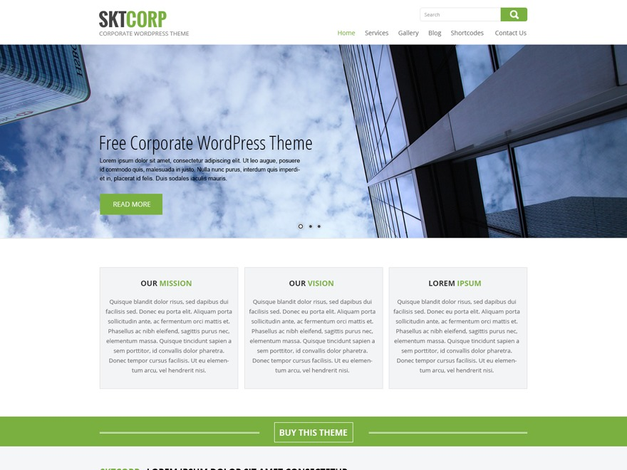 SKT Corp WordPress store theme