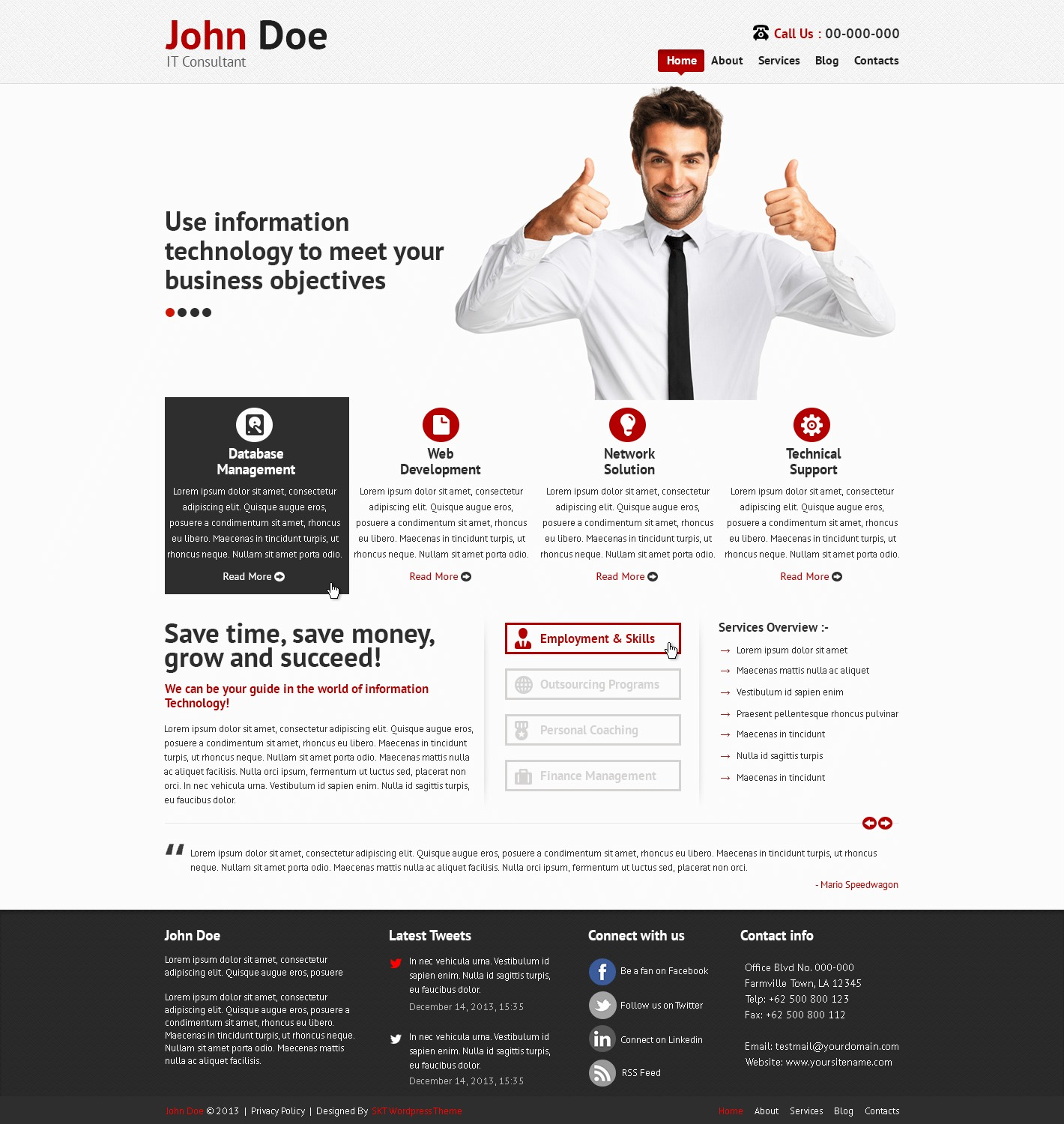 SKT IT Consultant Pro WordPress page template