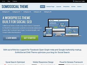 SoMoSocial Child Theme theme WordPress