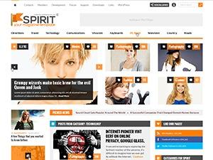 Spirit WordPress magazine theme