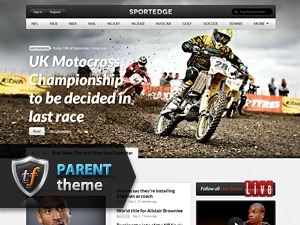 Sportedge Parent WordPress news template