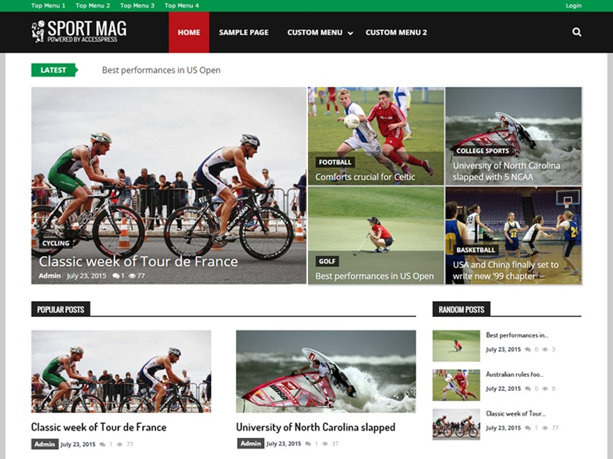 SportsMag best WordPress magazine theme