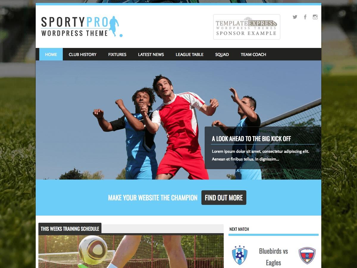 SportyPro template WordPress