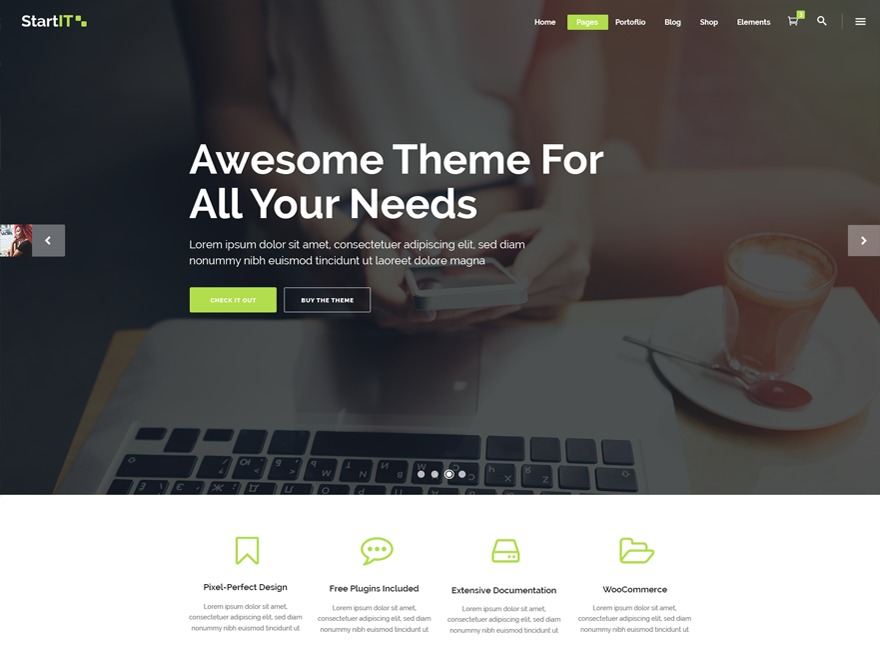 Startit business WordPress theme