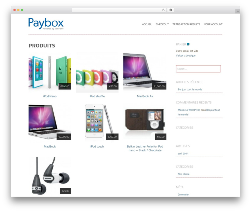 Storefront Paper WordPress store theme - wp-commerce.boutique-paybox.com