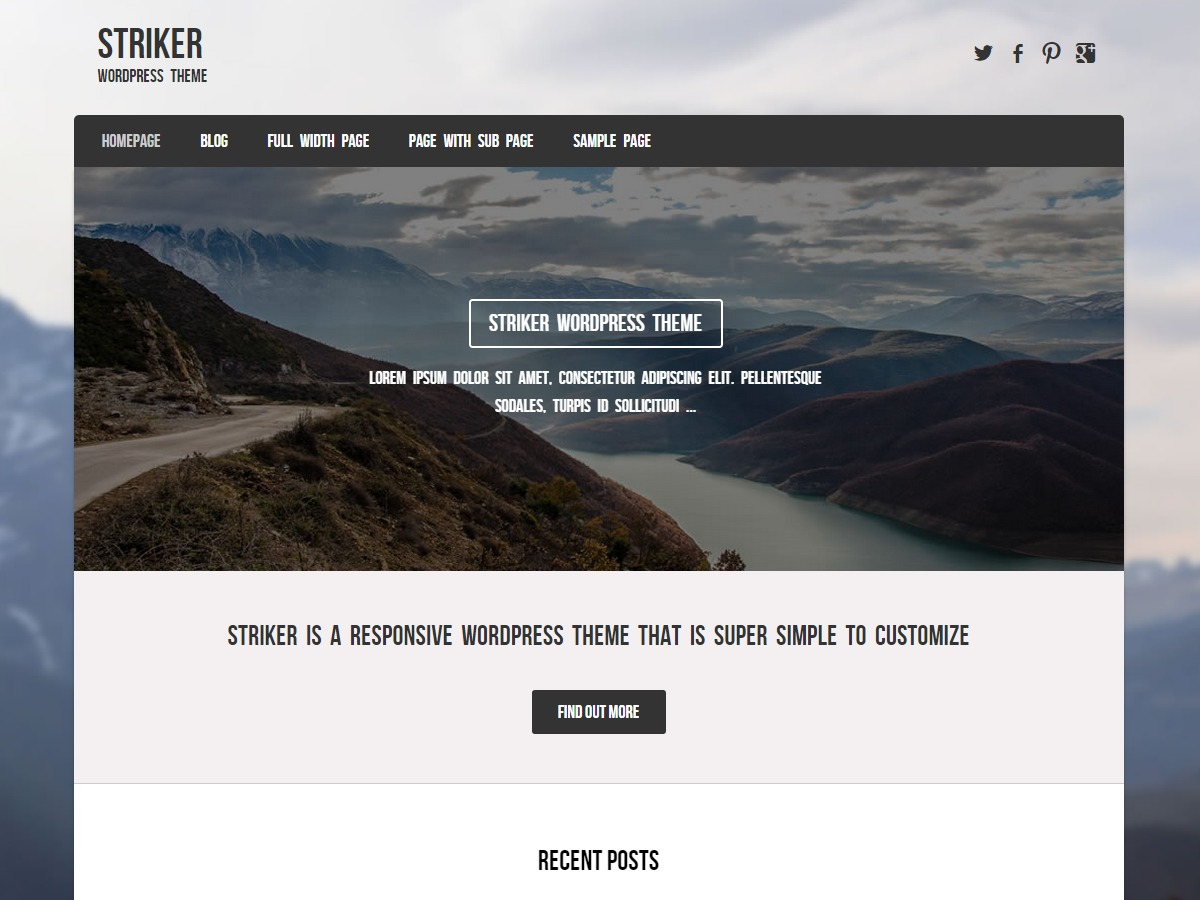 Striker free WordPress theme