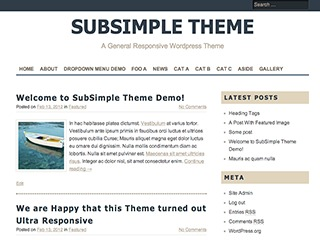 SubSimple free website theme