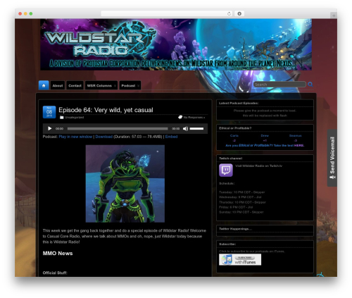 Suffusion WordPress news template - wildstarradio.com