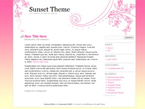 Sunset Theme premium WordPress theme