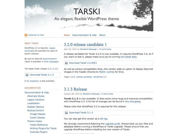 Tarski WordPress template for photographers