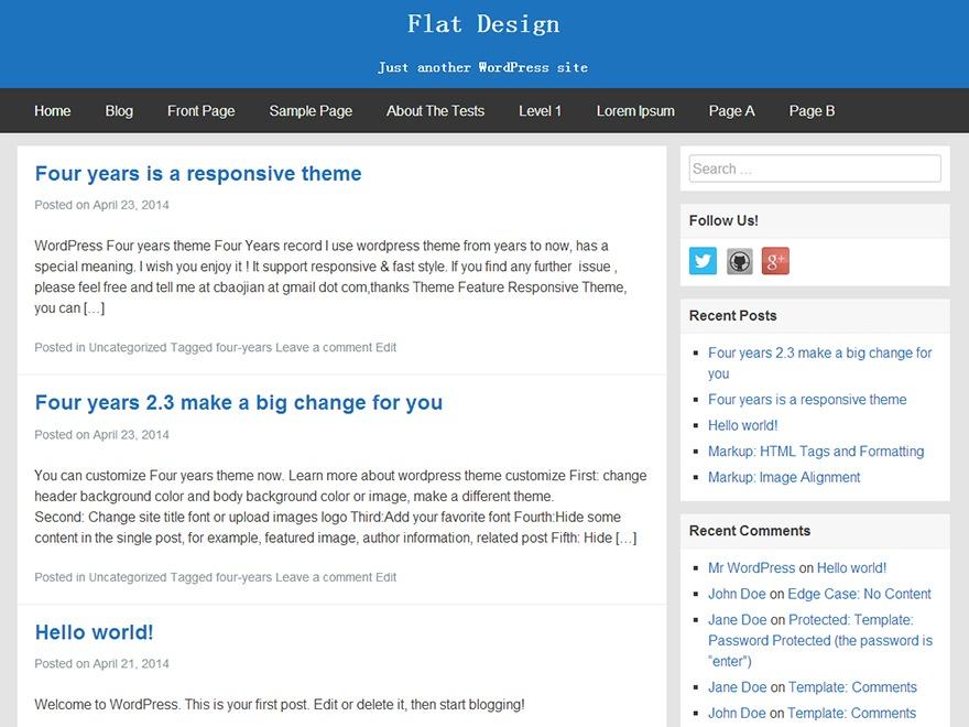 Template WordPress FlatBox