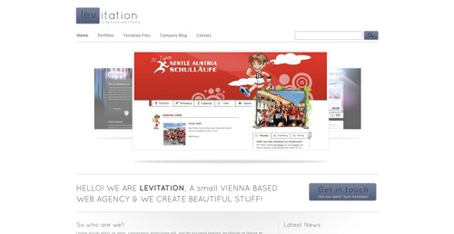 Template WordPress levitation