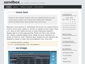 Template WordPress Minimal